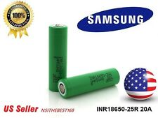2-SAMSUNG INR18650-25R 3.7V 2500mAh High Drain Rechargeable Battery - US Seller