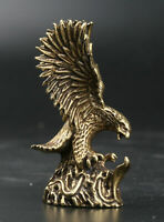 62MM Collect Chinese Fengshui Bronze Eagle Hawk Eagles Amulet Pendant Statue
