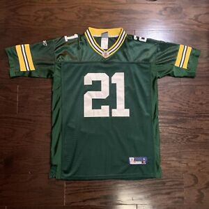 REEBOK GREEN BAY PACKERS #21 Charles Woodson NFL FOOTBALL JERSEY YOUTH Size XL