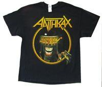 Anthrax San Bernadino California Event Show 2014 Black T Shirt New Official Tour