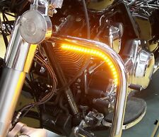 Motorcycle LED Daytime Running Light and Turn Signals Kit - Amber