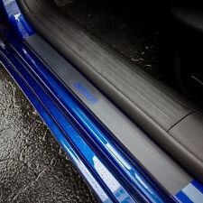 Door Sill Plate Protectors Black Matte Vinyl fits Chrysler 200S 2015 - 2020
