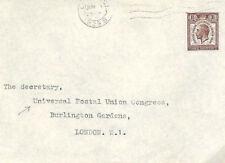 MS2034 1929 GB UPU CONGRESS MAIL Universal Postal Union *Secretary* Cover WALLIS
