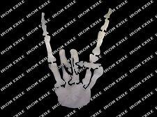 Skeleton Hand Rocker Symbol Gesture Metal Biker Chopper Motorcycle Rat Rod Sign