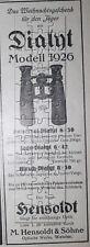 Hensoldt Dyalit Optische Werke Wetzlar Fernglas Werbeanzeige anno 1926 Reklame