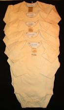 Lot of 5  Anne Geddes  size 3-6 months. Yellow, long sleeve bodysuit  NEW