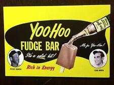 Mickey Mantle and Yogi Berra Yoo-Hoo Fudge Bar Ad Postcard