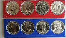 2007 P and D Presidential $1 Coins 8 Golden BU Dollars US Mint Satin Finish