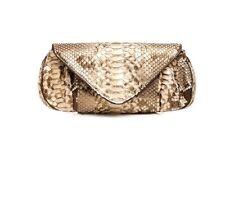 Limited Edition Monikha B Gold Canela Snakeskin Bag NWT (Retail $655)