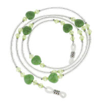 2PCS Beaded Eyeglass Sunglass Holder Neck Chain Necklace for Women Girls