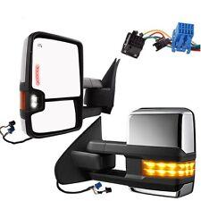 For 03-06 Silverado Sierra Chrome Power+Heated+Signal+Backup Lamp Towing Mirror