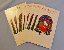 12 Christmas Santa Reindeer Money Holder Tri-Fold Cards No Envelopes