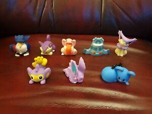 Pokemon Bandai Figures Finger Puppets X8 Bundle 1997, 2006, 2007