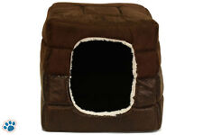 Pet Dog Cat Dome Bed Kitten Cave Cubby Basket House Sofa Crate Kennel Rabbit Pup