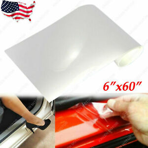 "6'' x 60"" Clear Door Sill Edge Paint Protection Vinyl film Sheet Transparent"