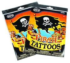 Un PACCO 50 PIRATE TATUAGGI-Bambini partito Temporanei Tatuaggi