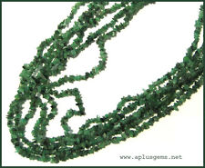 """Beautiful 34""""Green Emerald Chip Necklace"""