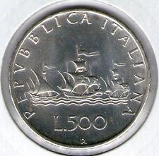 500 LIRE 1970 FDC CARAVELLE ARGENTO 835/1000  REPUBBLICA ITALIANA