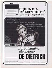 PUBLICITE ADVERTISING 054 1965 La cuisinière électrique DE DIETRICH