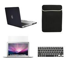 "4 in1 Rubberized BLACK Case for Macbook PRO 15"" + Key Cover + LCD Screen+ B"
