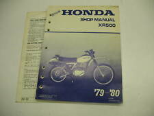 HONDA SHOP  MANUAL XR500 XR 500 1979 1980 79 80 SERVICE GUIDE BOOK