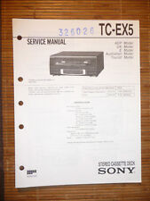 Manuale di Servizio per Sony TC-EX5 Cassetta Deck, Originale