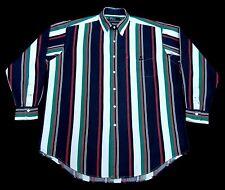 RARE Vintage Polo 92 Ralph Lauren C P, R L Multi-Color Stripes Men Shirt L/S L