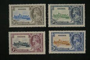 Nigeria #34-7 1935 KGV jubilee set VF MNH fresh no toning 2017 cv$24.00 (k358)