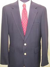 Botany 500 Black Men's Coat Jacket Men Size 40L Gold Buttons Two Button