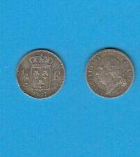 Pièces de monnaie françaises de 25 centimes pour 25 Centimes sur Louis XVIII