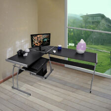 L-shape Designer Computer PC Desk Home Study Office Furniture Corner Table