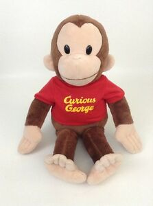 "Curious George 14"" Monkey with Red Shirt Plush Stuffed Animal Toy Applause"