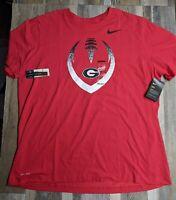 New Nike University of Georgia Bulldogs Dri-Fit T-Shirt Men's Sz XXL 2XL NWT
