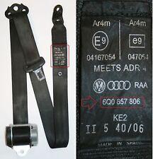 VW Polo Seat Belt Drivers Side Rear 9N 2002 to 2005 Hatchback 6Q0857806