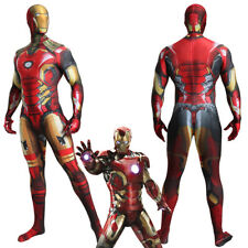 Jumpsuit Iron Man Tony Stark  Bodysuit Cosplay Costume