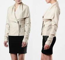 Vince Paper Leather Drape Jacket - Sz Medium -