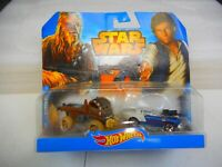 2014 Hotwheels Star Wars Chewbacca & Han Solo Die-Cast Car