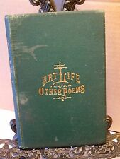1877 Art Life and Other Poems Benjamin Hathaway Kalamazoo County Michigan Author