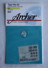 Archer Fine Transfers 1/72 - 1/76 Tiger Mix #2 (Builds Three Vehicles) AR74005