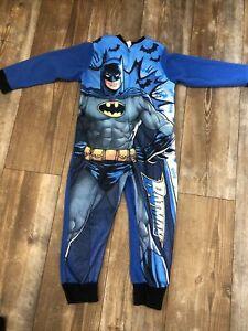 Batman All In One Fleece PJ's, Loungewear Age 7-8