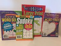 Word Number Puzzles Pack 4 Books NEW