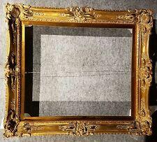 """4"""" Gold VINTAGE ANTIQUE FINE HAND-CARVED PICTURE FRAME  Frames4art 1410G 20x24"""