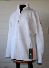 SPYDER Women's XXL White Major Core Cable Sweater Full Zip BRAND NEW w TAG