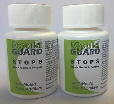 2 x Anti-Mould Paint Additives - STOPS Black Moulds & Fungus