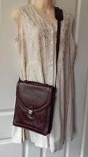 Vintage Chocolate Brown Genuine Leather Shoulder Bag