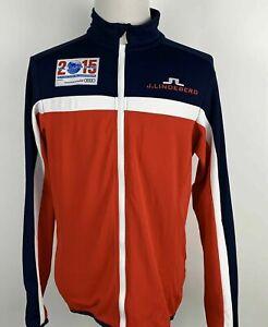 J Lindeberg Men HUXLEY STRIPE 2015 FIS Alpine World Ski Championships Jacket XL