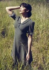Pearl Lowe Talla 18 años 40 Segunda Guerra Mundial Landgirl Vestido De Té De Estilo Estampado Ditsy # EU 46 nos 14