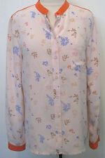 Vanessa Bruno Athe 100% Silk Multicolored Blouse / Geometric Design Size 40,NEW