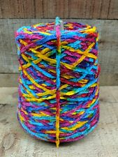 Astro Dyed FIESTA Turquoise Red Blue Pink Bulky RAYON Chenille Yarn 500 YPP