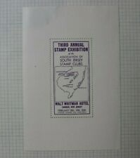 3rd Annual Stamp Expo S Jersey Stamp Club Camden Nj Souvenir Label Ad